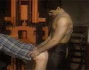 Leder Gay nagelt seinen Lover