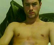 Sexy Kerl vor der Webcam