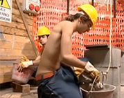 Gaysex auf der Baustelle