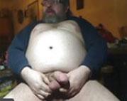 Perversen fetten Kerl beim Wichsen gefilmt