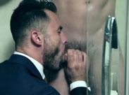Schwuler Sex in der Dusche